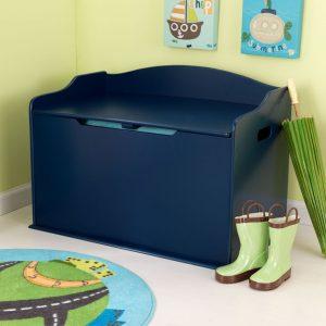 baúl para juguetes azul