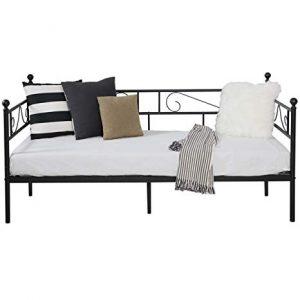 sofá cama con estructura de hierro