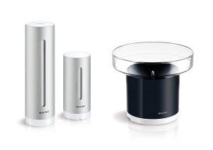 pluviómetro moderno con sensores