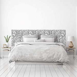 cabezal de cama de flores