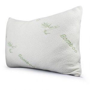 almohada con memoria de forma de bambu