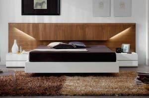cabezal de cama con luz