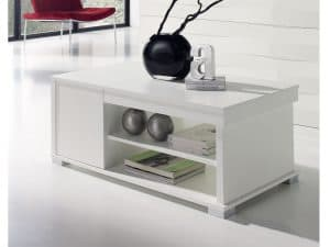 mesa baja con compartimentos