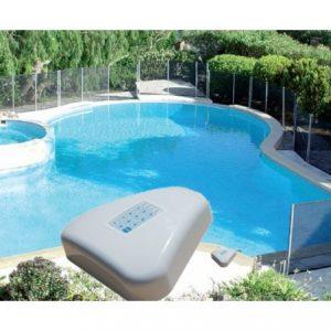 alarma de piscina y piscina de fondo
