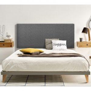 cabezal de cama gris