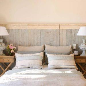 cabezal de cama de madera