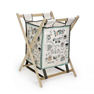 cesta de la ropa con estructura