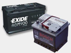 varias baterías de coche