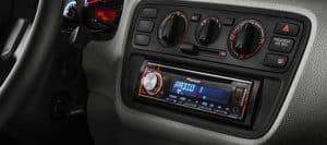 radio de coche instalada