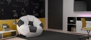 puff de balón de futbol
