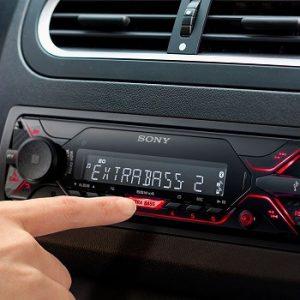 radio de coche moderna
