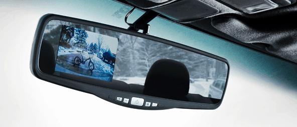 cámara trasera para coche en el espejo retrovisor
