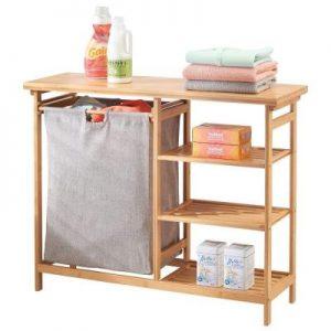 cesta de la ropa con estante