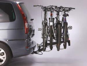 portabicicletas con cuatro bicis