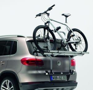 portabicicletas con una bici