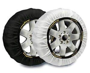 ruedas con cadenas de nieve de tela