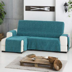 sofá con chaise longue con una funda
