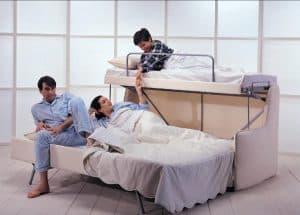 sofá cama triple
