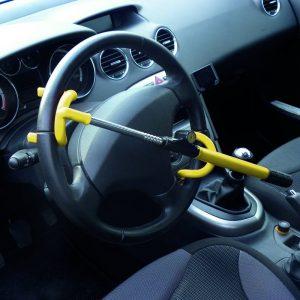 antirrobos para coche amarillo