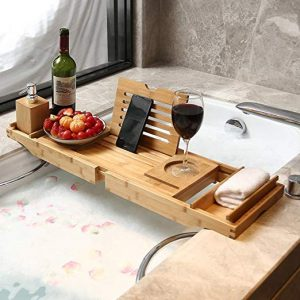bandeja de bañera con compartimentos