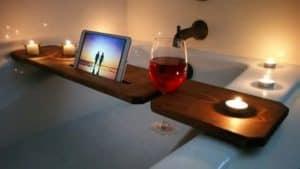 bandeja de bañera oscura
