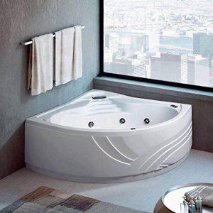 bañera de ángulo moderna