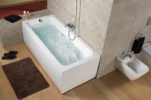bañera de ángulo alargada