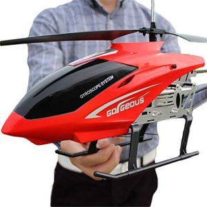 helicóptero teledirigido rojo