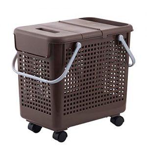 cesta de la ropa con ruedas