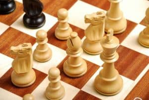 figuras de ajedrez de cerca