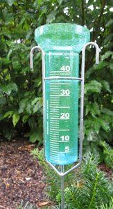 pluviómetro lleno