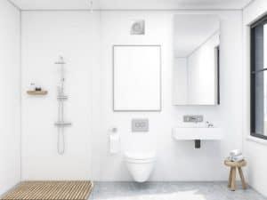 baño con extractor de baño