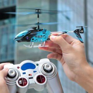 mini helicóptero teledirigido