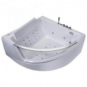 bañera de ángulo transparente