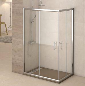 mampara de ducha con doble puerta