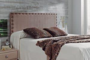 cabezal de cama de tela