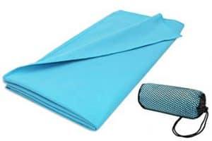 toalla de microfibras azul
