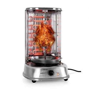 asador electrico con un pollo