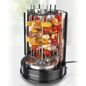 asador electrico con verduras