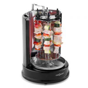 asador electrico giratorio con verduras