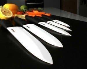 cuchillos de cerámica de varios tamaños