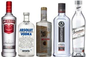 botellas de vodka