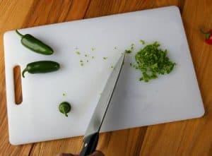 tabla de cortar de plástico