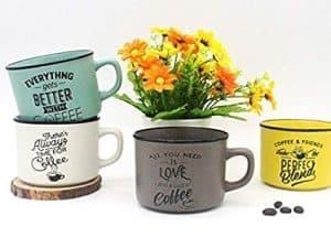 tazas de café metálicas
