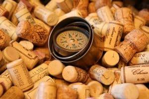 corchos de vino tinto