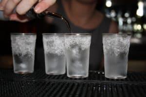 chupitos de vodka