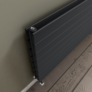 radiador eléctrico de pared negro