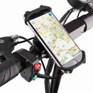 móvil en un soporte de móvil para bici