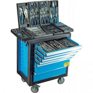 carro de herramientas organizado