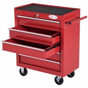 carro de herramientas rojo